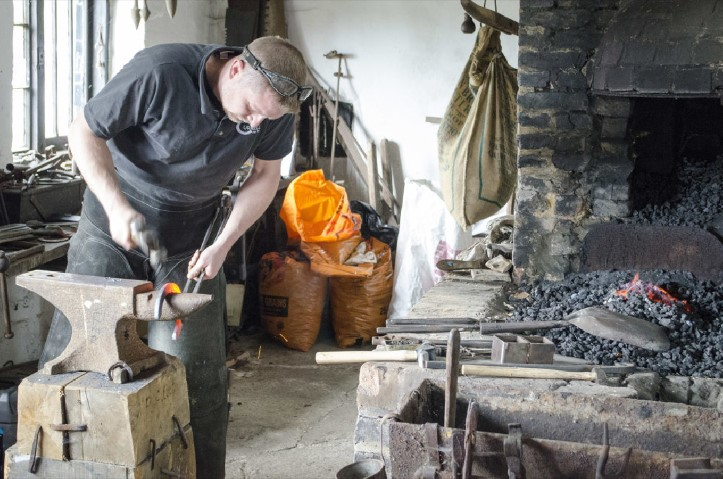 See the Blacksmith at work